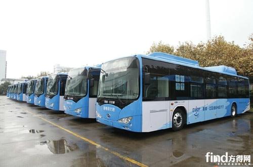 杭州已投入运行300多辆比亚迪纯电动公交车高清图片