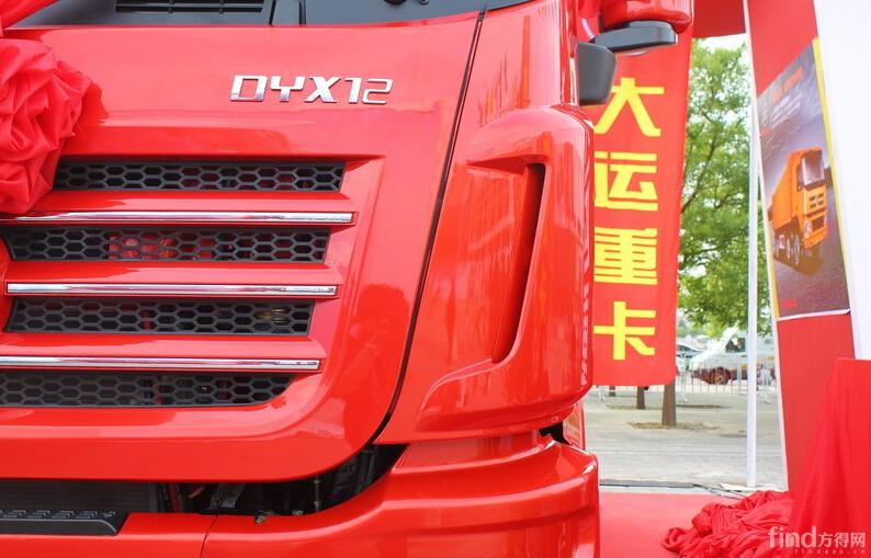 大运n9重卡 430马力 6x4 牵引车(锐雅红)实拍