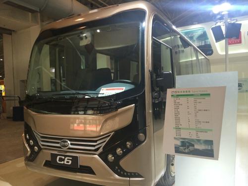比亚迪7米纯电动客车C6-比亚迪商用车再战北京电动车技术展示交易会高清图片