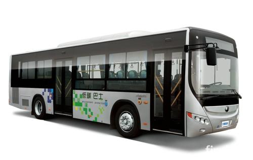 天津滨海新区更新新能源公交车高清图片
