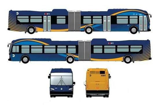 纽约新巴士配WIFI和LCD屏