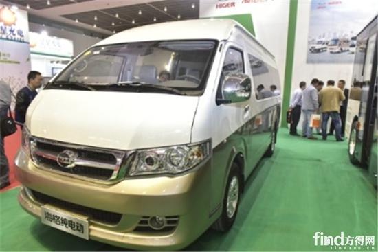 H5C纯电动商务车-纯电动产品占90 天津客车展面面观 附30张图及数据高清图片