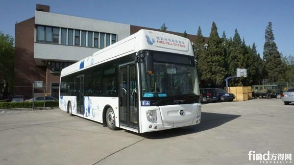 运行试验中的福田欧辉氢燃料电池客车