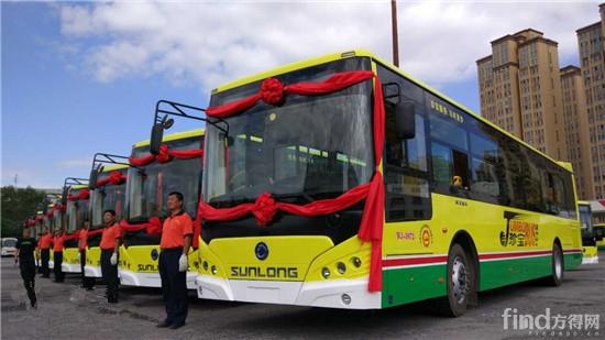 50辆申龙新能源公交乌鲁木齐发车