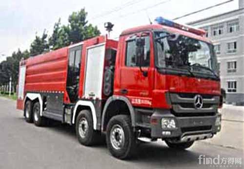 郴州2台大吨位水罐消防车投入执勤