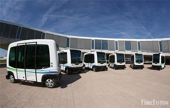 法国无人驾驶15座公交亮相