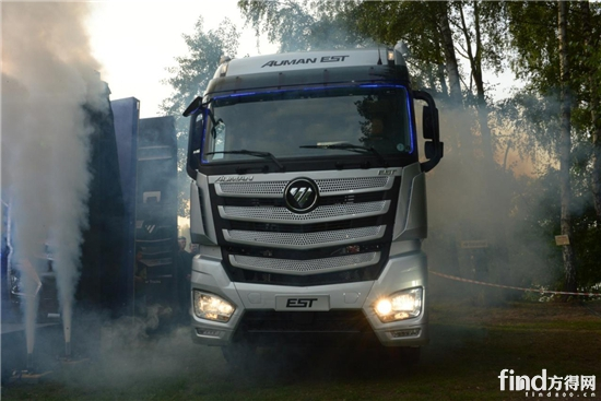 福田戴姆勒汽车携超级卡车 吸睛 上海滩高清图片
