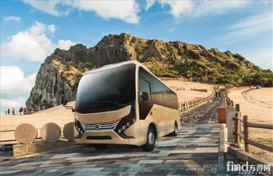 比亚迪7米纯电动巴士未来运行在济州岛的效果图