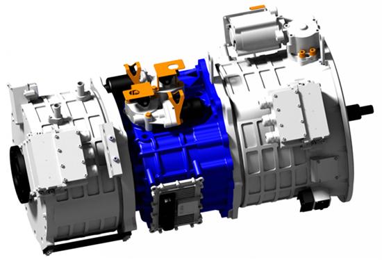 绿控AMT混联混合动力系统