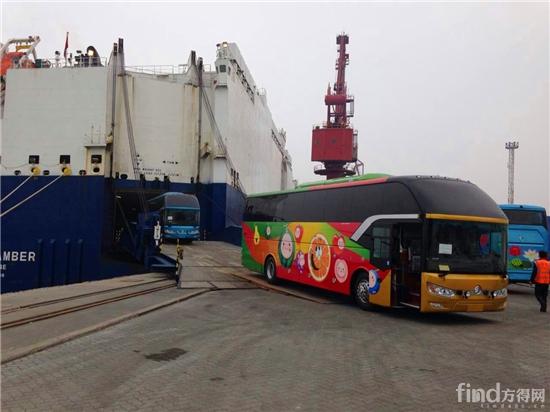 1 新一批绚丽的金旅凯歌装船发往缅甸