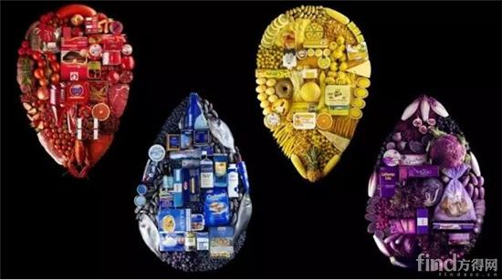 包装的色彩设计,使食物的原本印象通过色彩表现出来