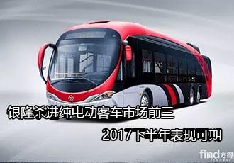 银隆杀进纯电动客车市场前三 2017下半年表现可期