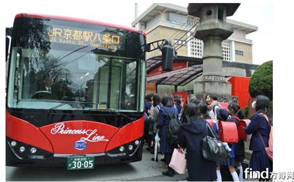 京都民众体验比亚迪k9纯电动巴士
