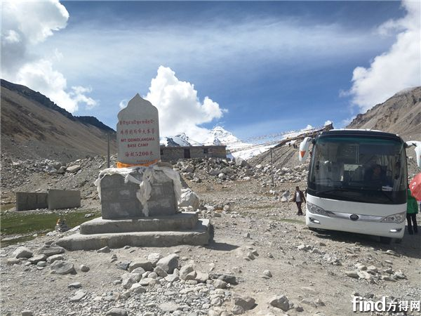 纯电动景区车在珠峰大本营运营