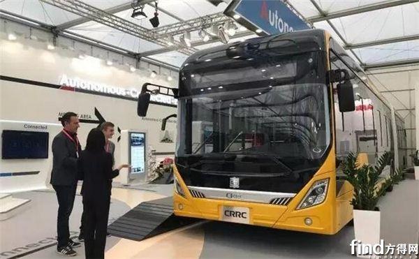 """中车电动18米纯电动""""智能辅助驾驶""""BRT客车"""