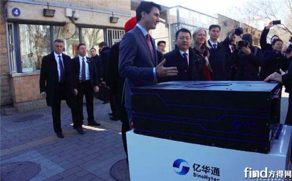 加拿大总理访问亿华通发动机 (2)