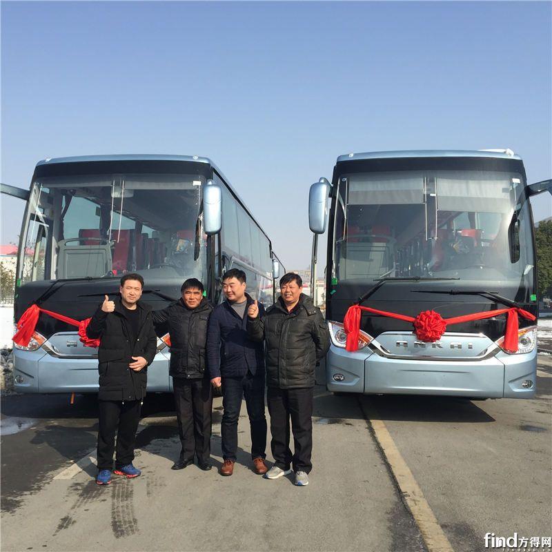 安凯A9客车批量交付合肥客运 (3)