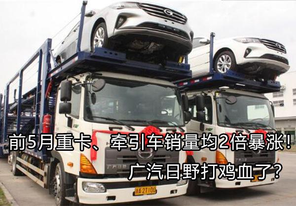 前5月重卡、牵引车销量均2倍暴涨!广汽日野打鸡血了?