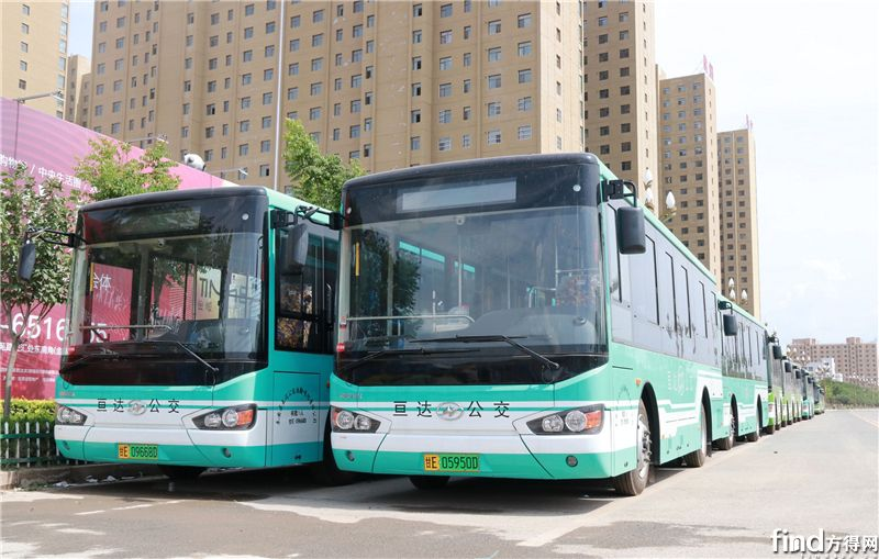 36辆亘达公交购买的海格纯电动公交车整装待发