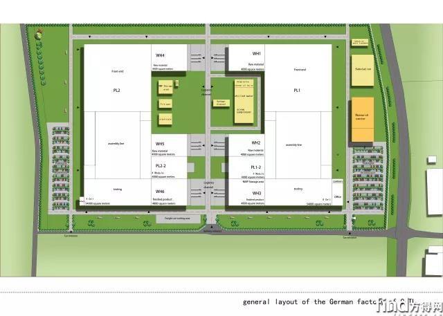 宁德时代CATL德国工厂平面规划图1
