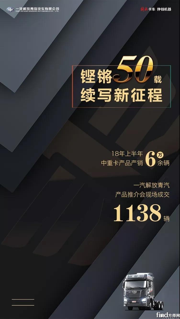 解放青汽JH6推介会获单1138辆 (1)