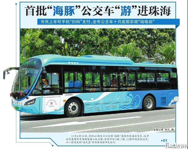 """首批60辆银隆""""海豚""""公交投运 (2)"""