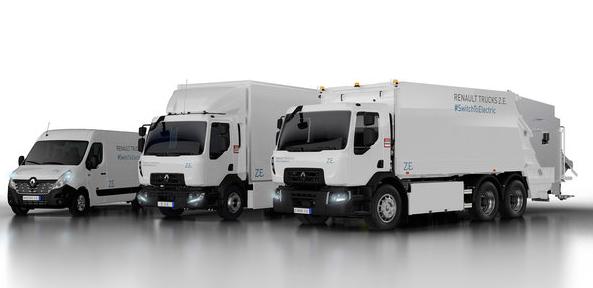 雷诺纯电卡车发布续航300公里