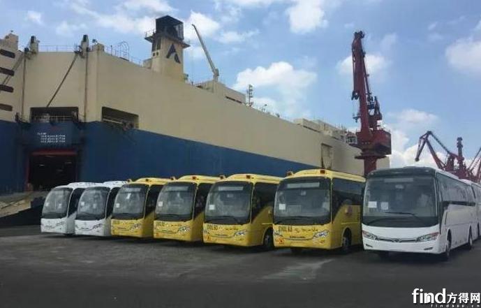 捷报频传82辆金龙客车出口海外