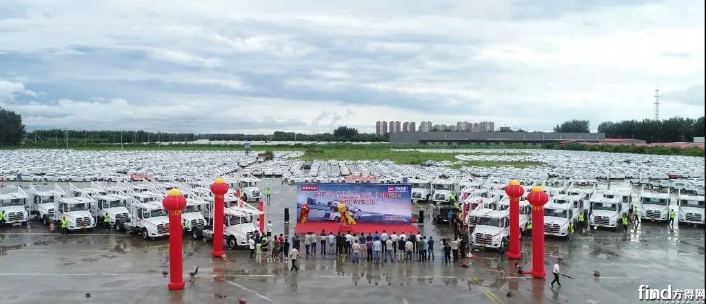 80辆乘龙T5轿运车交付华阳储运 (2)