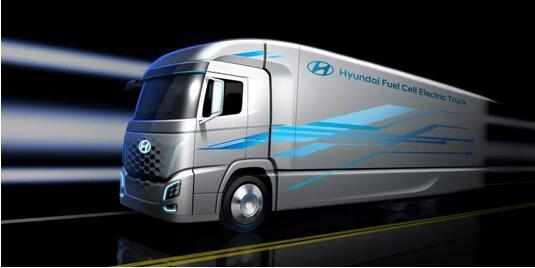 现代氢燃料电池卡车设计图公布