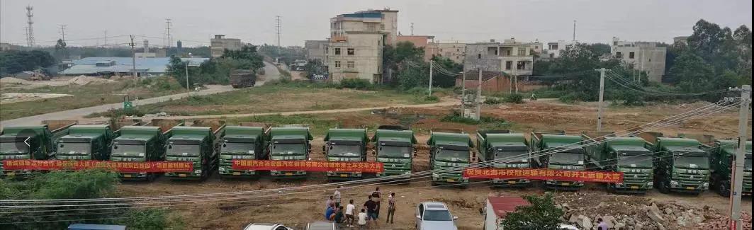 数百辆中国重汽车辆交客户使用 (4)