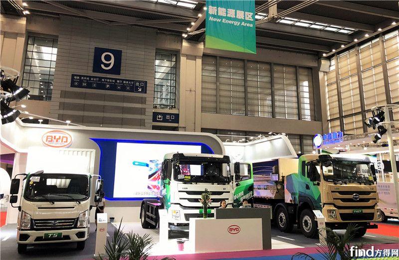 加速卡车电动化布局 比亚迪商用车亮相深圳物博会 (1)