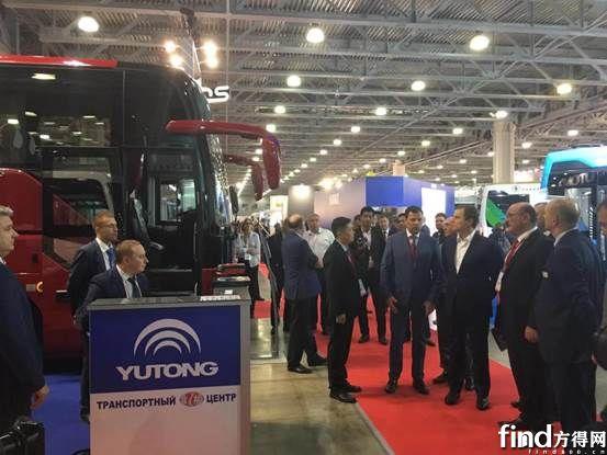 获莫斯科副市长称赞,宇通闪耀Busworld俄罗斯车展 (1)