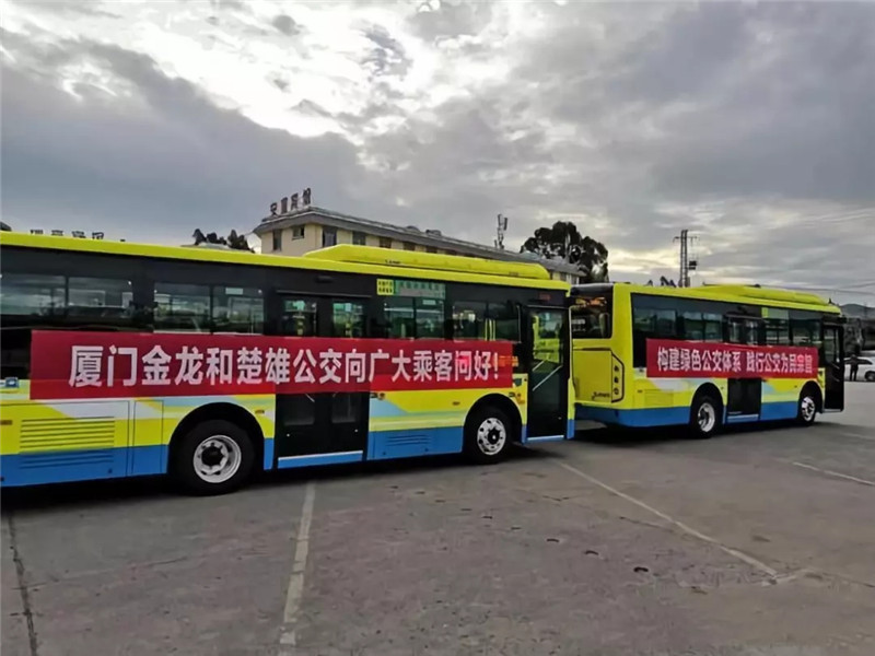 金龙客车纯电动公交批量交付云南 (3)