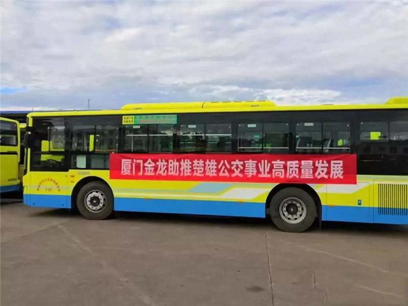金龙客车纯电动公交批量交付云南 (4)