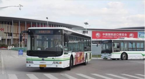 """进博会上多家客车产品展示""""中国制造"""" (1)"""