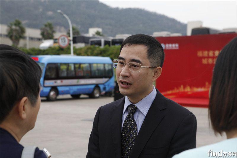 5 厦门金旅总经理彭东庆接受记者采访