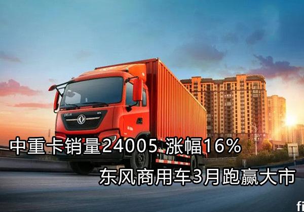 东风商用车3月中重卡销量增16%