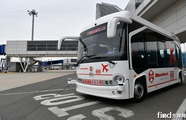 安凯无人驾驶客车在日本中部国际机场试运行