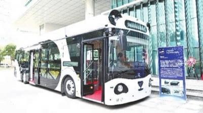 自动驾驶公交车在天津投运