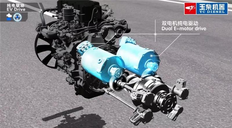 玉柴全球首款e-CVT混动系统