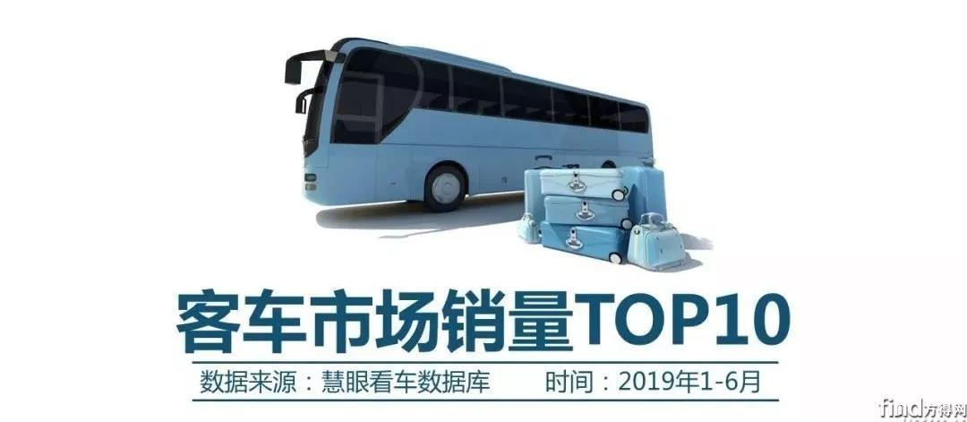 2019年1-6月客车市场销量TOP10