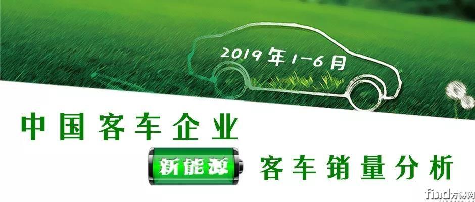 2019年1-6月新能源客车销量分析