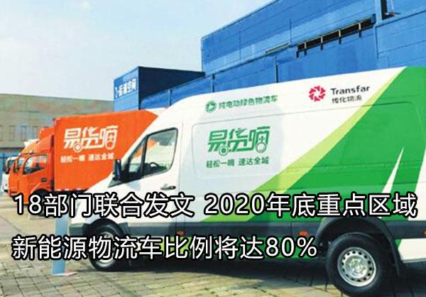 2020年底新能源物流车将占80%