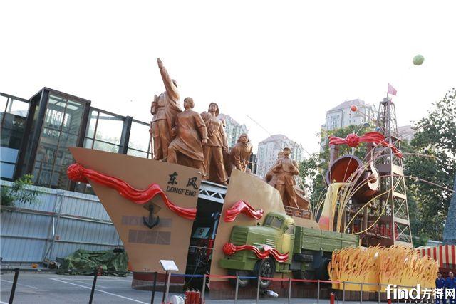 """福田欧辉""""庆祝新中国成立70周年大会""""彩车项目全景纪实4"""