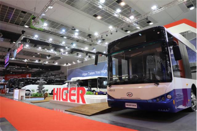 为中国智造代言 苏州金龙海格客车亮相比利时世界客车博览会218
