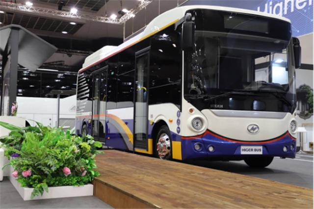 为中国智造代言 苏州金龙海格客车亮相比利时世界客车博览会427