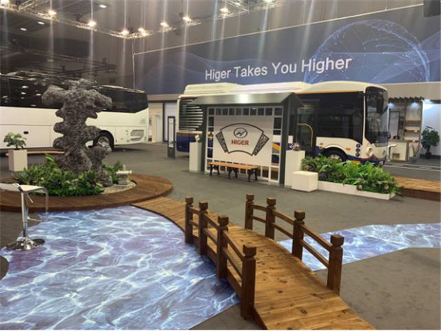 为中国智造代言 苏州金龙海格客车亮相比利时世界客车博览会220