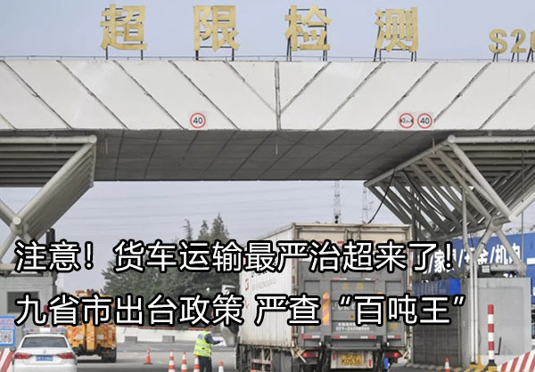 注意九省市出台政策严查百吨王