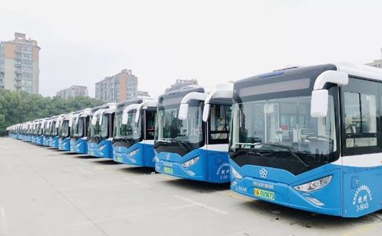 银隆新能源公交车正式上线杭州